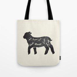 Lamb Butcher Diagram-Sheep Tote Bag