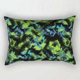 Abstract green black pattern . Rectangular Pillow