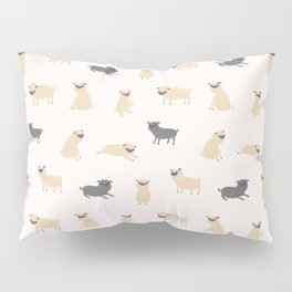 Pug Pattern Pillow Sham
