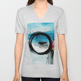 Enso Abstraction o. 113R by Kathy Morton Stanion Unisex V-Neck