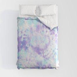 Blue and Purple Tie-Dye Comforters