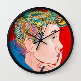 Meg Ponders Wall Clock