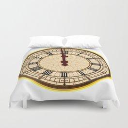 Big Ben Midnight Clock Face Duvet Cover