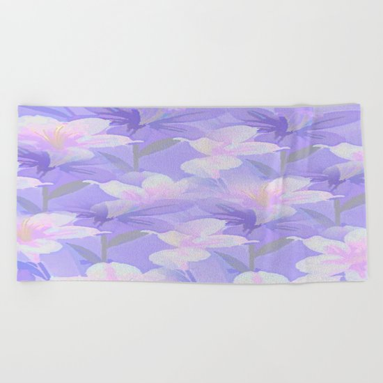 Abundance Of Flowers - Painterly Beach Towel