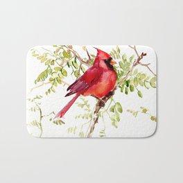 Northern Cardinal, cardinal bird lover gift Bath Mat