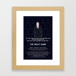 The Great Game - Jim Moriarty Framed Art Print