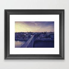 Porto across the bridge. Framed Art Print