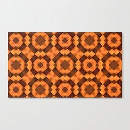 Pattern in Warm Tones Canvas Print