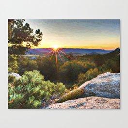 Sage Mountain Sunset Canvas Print