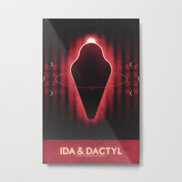 The Asteroid Belt - Ida & Dactyl Metal Print