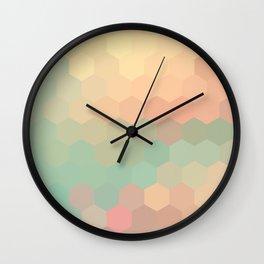 PEACH AND MINT HONEY Wall Clock