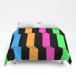 Original Geometric Op Art Design Comforters