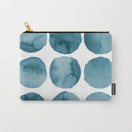 Blue Blur. Watercolor Blot. Carry-All Pouch