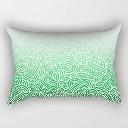 Faded green and white swirls doodles Rectangular Pillow