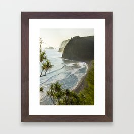 Polulu Valley - Big Island, Hawaii Framed Art Print