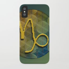 Flower of Life CAPRICORN Astrology Design iPhone Case