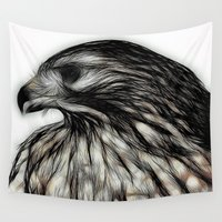 hawk Wall Tapestries featuring Hawk, v1 by pbnevins