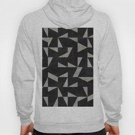Mid-Century Modern Pattern No.12 - Black and Gray Concrete Hoody