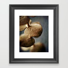 Gold Leaves Framed Art Print