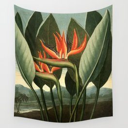 Birds of Paradise : Temple of Flora Wall Tapestry