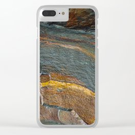 Abstract rock art Clear iPhone Case