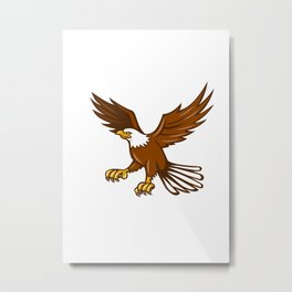 American Eagle Swooping Isolated Retro Metal Print