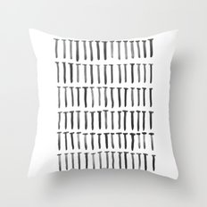 Nails watercolor Throw Pillow