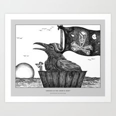 Draven in the Crow's Nest Art Print