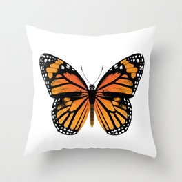 Monarch Butterfly | Vintage Butterfly | Throw Pillow