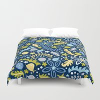 pool Duvet Covers featuring Tidal Pool by Heather Dutton