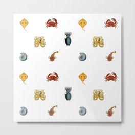 Fish Collage Metal Print