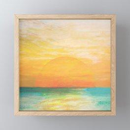 Summer Sunset Framed Mini Art Print
