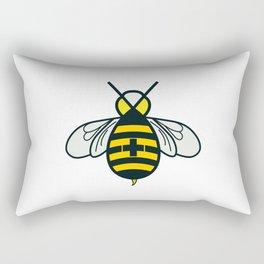 Be positive - Living Hell Rectangular Pillow