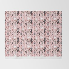 Jiji Cat Pattern Throw Blanket
