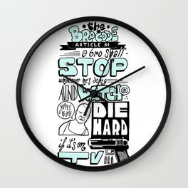 The Bro Code - Article 84 Wall Clock