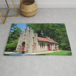 Lourdes University-  Portiuncula  Chapel in the Spring IV Rug