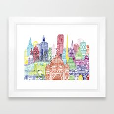 Melbourne Towers Framed Art Print