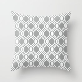 Grey and white Alabama pattern university of alabama crimson tide college Throw Pillow