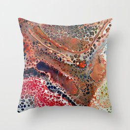 map of cells Throw Pillow