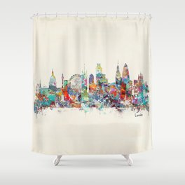london city skyline Shower Curtain