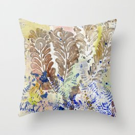 Feathers and Ferns Throw Pillow