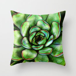 Graphic Succulent Throw Pillow