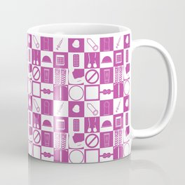 Contraception Pattern (Purple) Coffee Mug