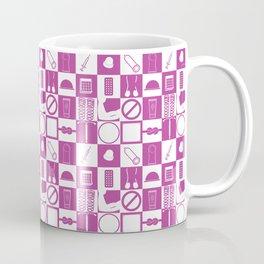 Contraception Pattern (Purple) Coffee Mug