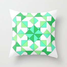 Geometric Globe by Freddi Jr Throw Pillow