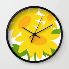 Yellow Green Good Cheer Wall Clock