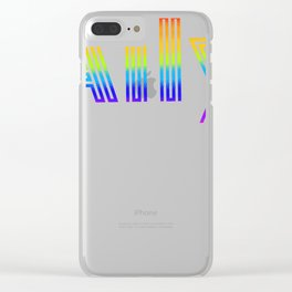 Straight Ally design For LGBT Pride Supporters Clear iPhone Case