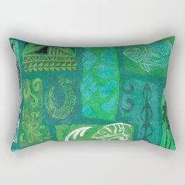 Vintage Hawaian Tapa Print Rectangular Pillow