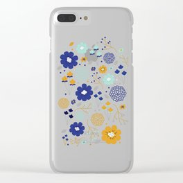 Winter Floral Clear iPhone Case