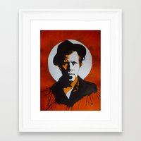 tom waits Framed Art Prints featuring Tom Waits by will pacheco